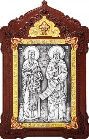 Икона препп. равноап. Кирилла и Мефодия - A141-7