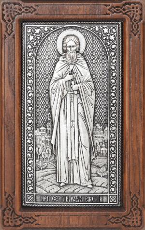 Икона: преп. Сергий Радонежский - A166-1