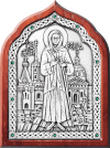 Икона: св. бл. Ксения Петербуржская - A90-2