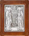 Икона: препп. Герман и Сергий Валаамские - A96-1