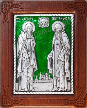 Икона: препп. Герман и Сергий Валаамские - A96-3