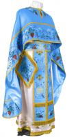 """Греческое вышитое облачение священника - """"Хризантемы"""" (синее-золото)"""