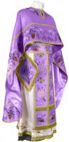 """Греческое вышитое облачение священника - """"Хризантемы"""" (фиолетовое-золото)"""